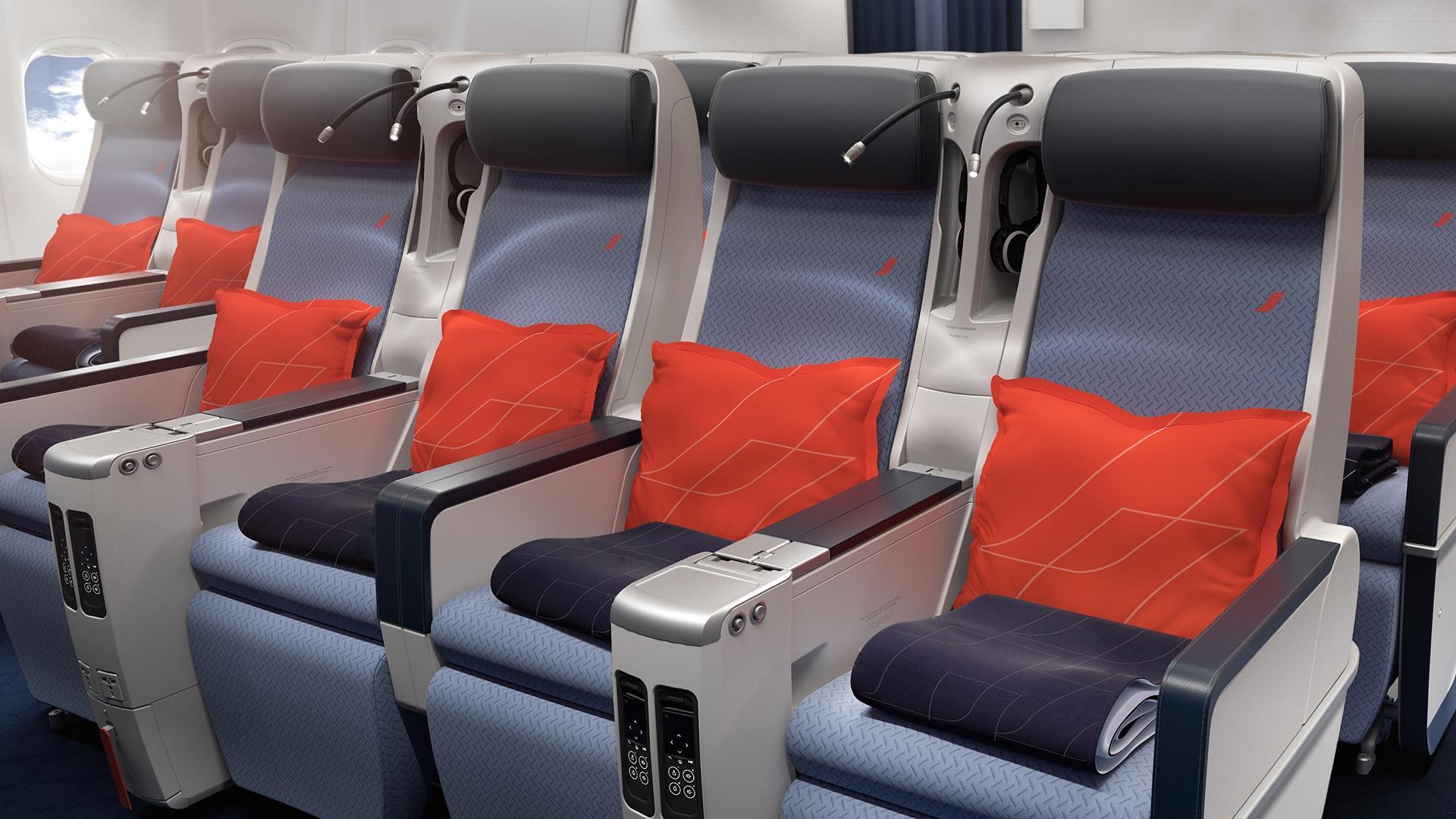 Classe Premium Economy avec Air France