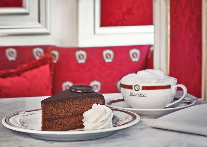 Cake Sacher à l'Hôtel Sacher Vienne