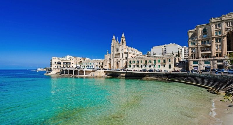 Baie de Balluta, à Malte