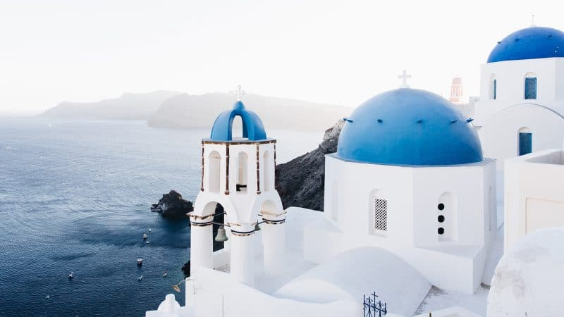 Santorin, en Grèce