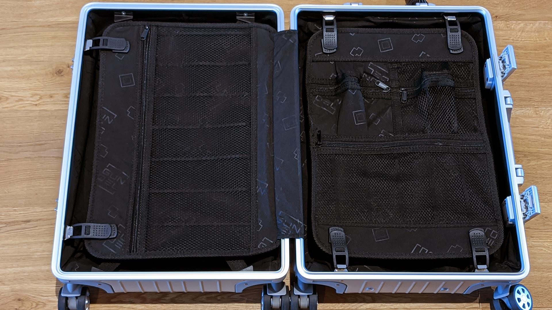 L'intérieur de la valise cabine Gundel