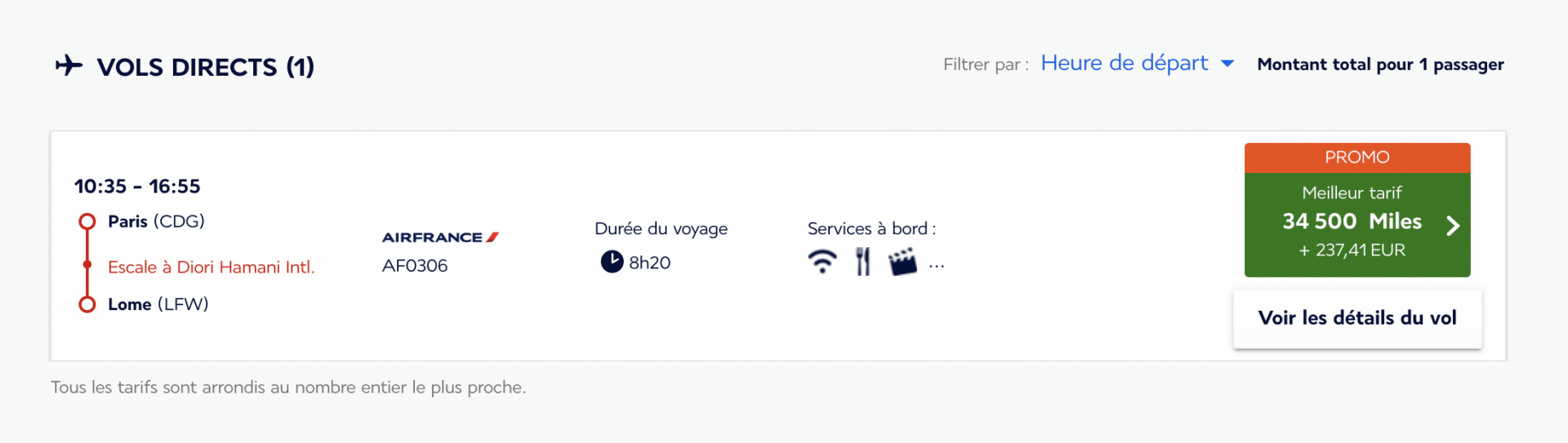 Billet prime Promo Flying Blue d'Air France