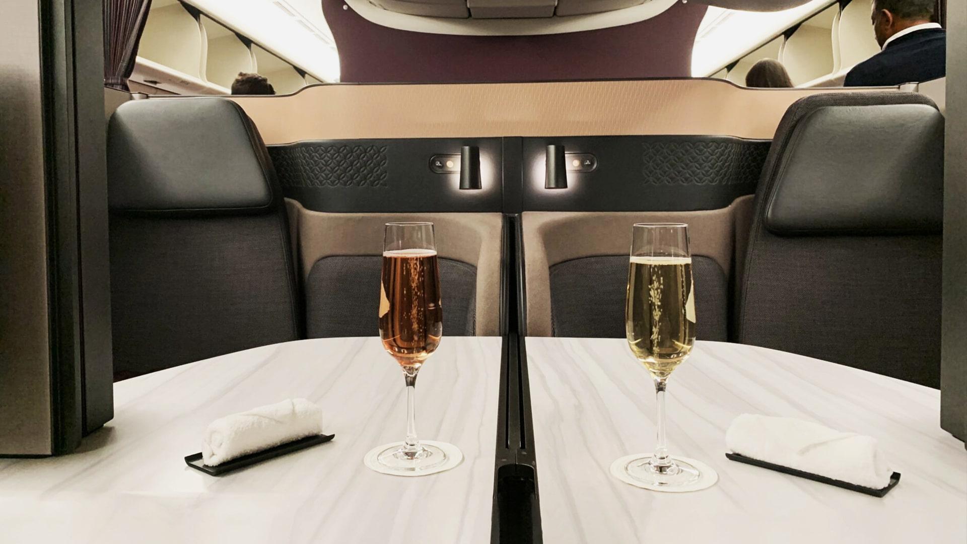 Classe Business avec Qatar Airways