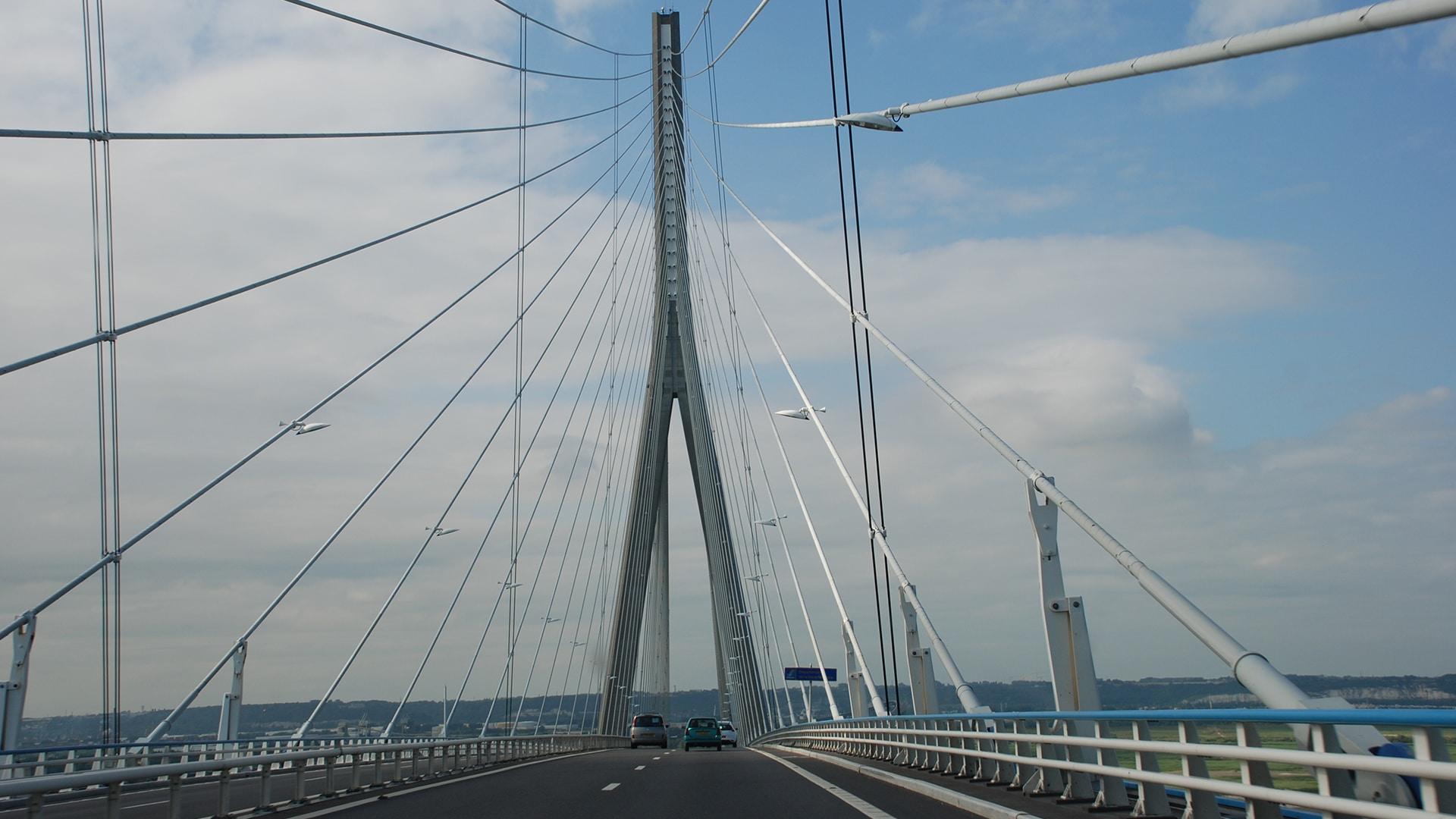 Pont de Normandie, à Honfleur