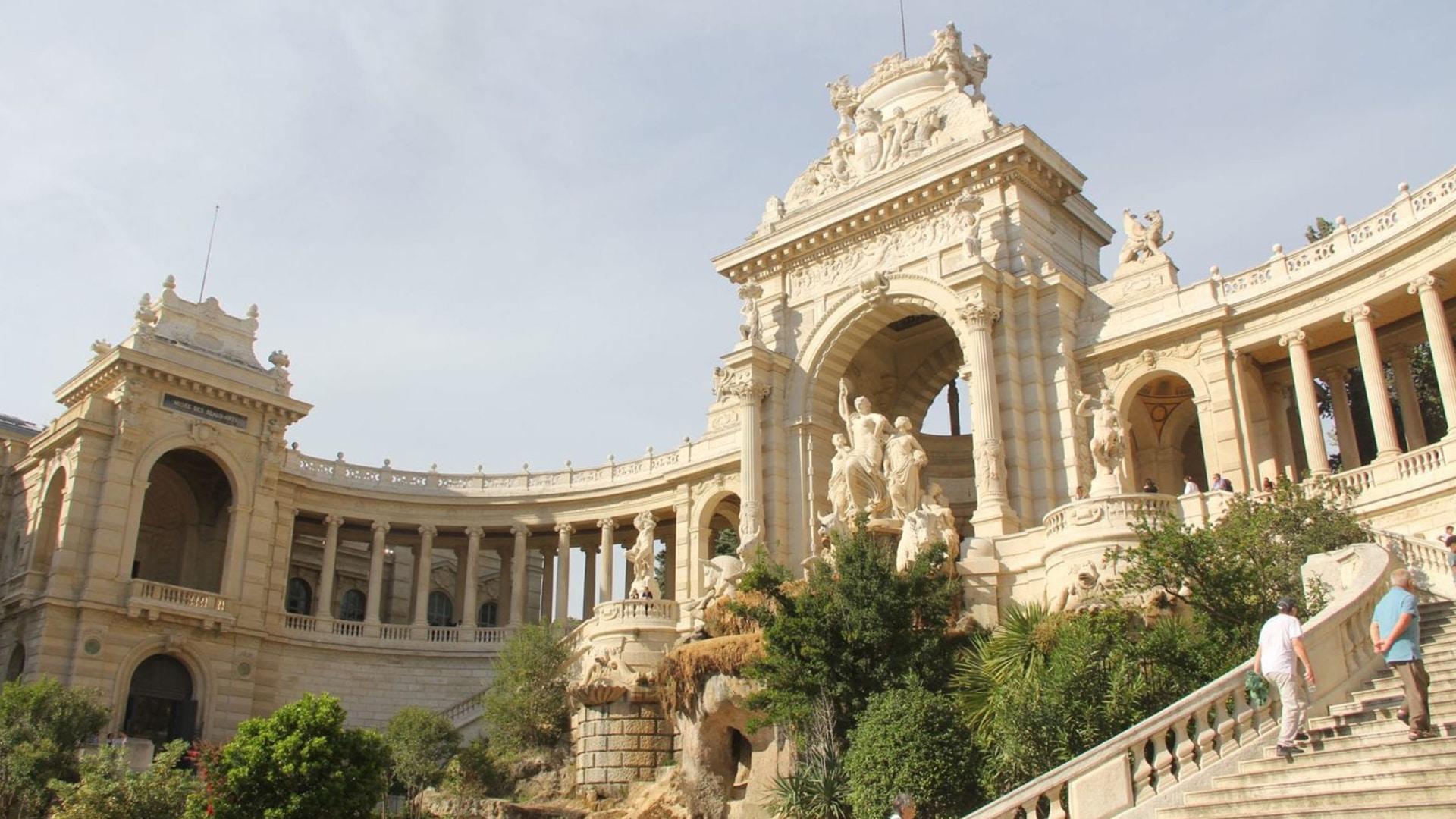 Le parc Longchamp est l'un des endroits les plus beaux et les plus touristiques de Marseille