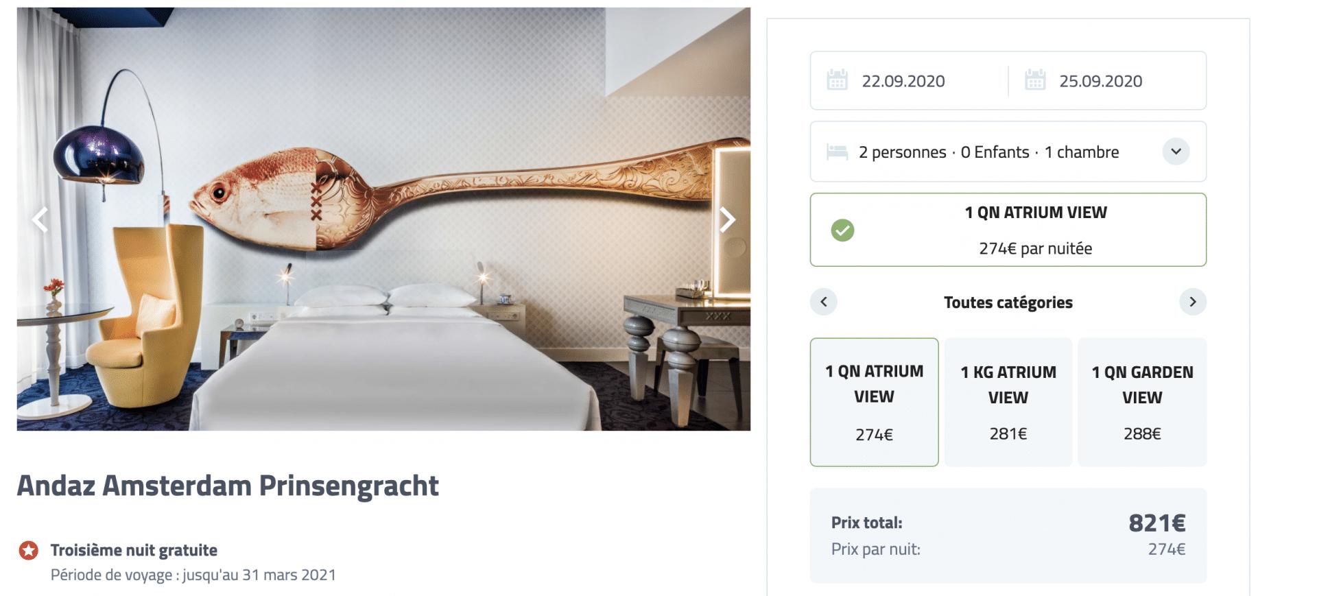 Bon plan au Andaz Amsterdam