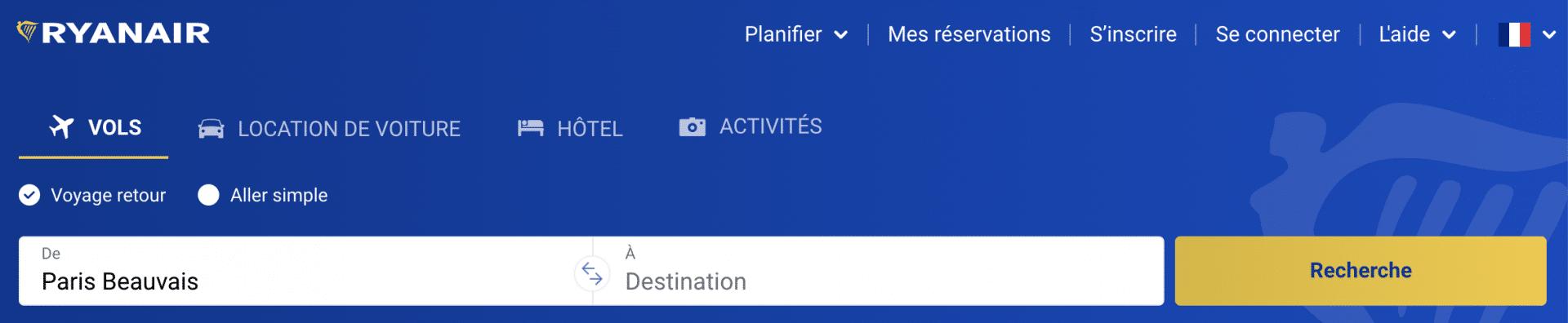 Site web de Ryanair