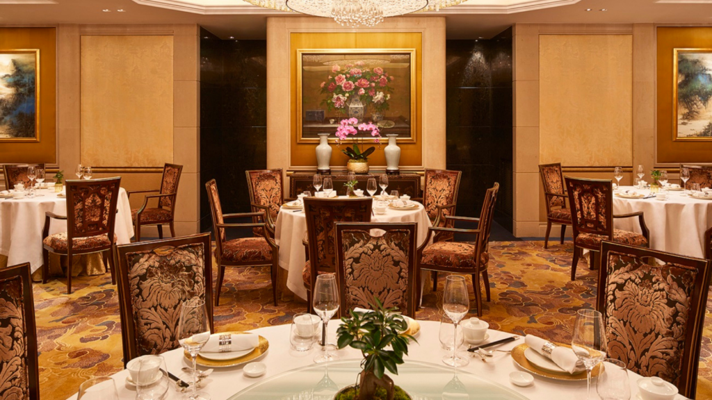 Restaurant Le Shang Palace de l'hôtel  Shangri-La à Paris