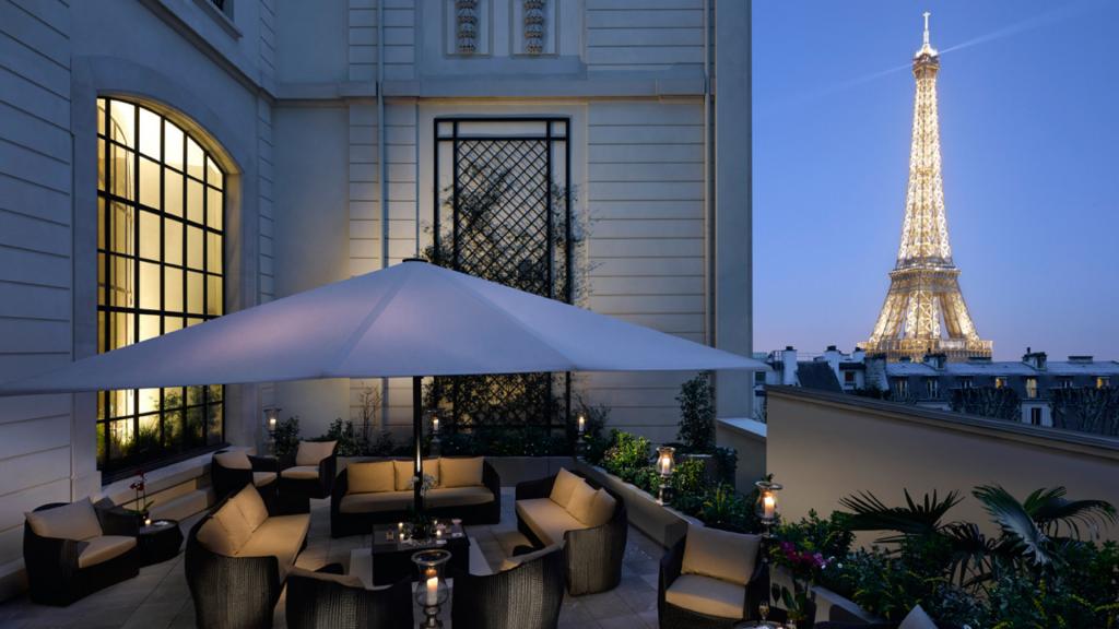 Terrasse Krug de l'hôtel Shangri-La Paris