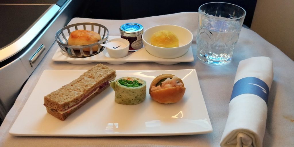 British Airways restaurant à bord