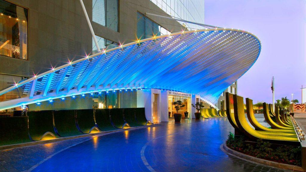 Hôtel de luxe W Doha Quatar - Entrée