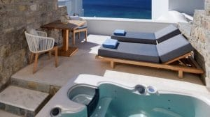 Mykonos Grand Hotel & Resort -chambre jacuzzi
