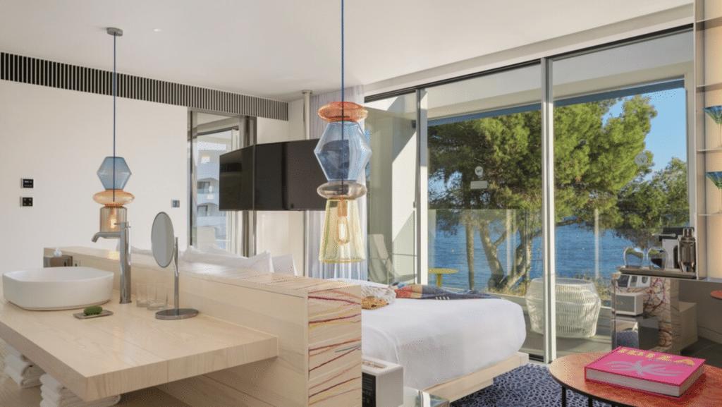 W Ibiza, Espagne - chambre vue mer