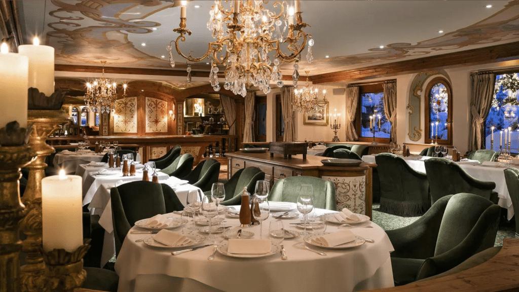 Hôtel 5 étoiles Luxe Airelles Courchevel - Palace au coeur des Alpes - restaurant