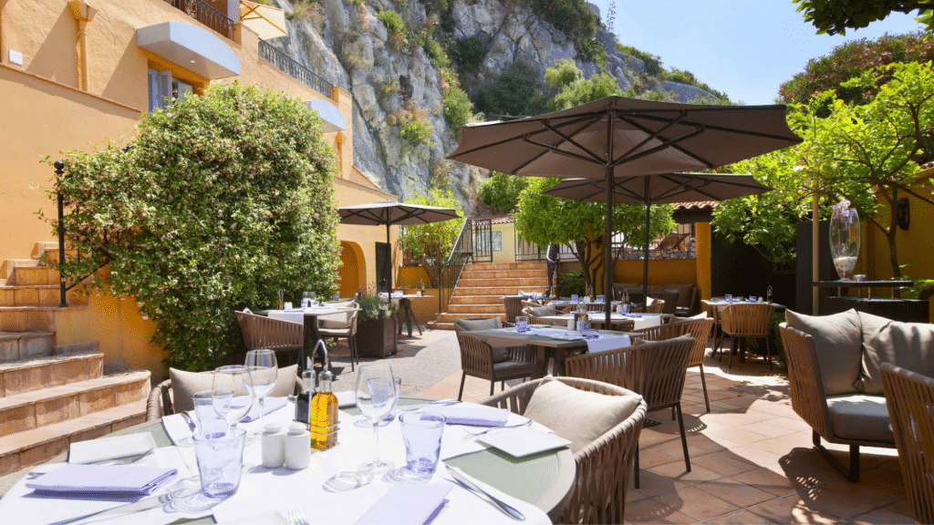 Restaurant, Bar - Hôtel La Pérouse - Hôtel 4* à Nice