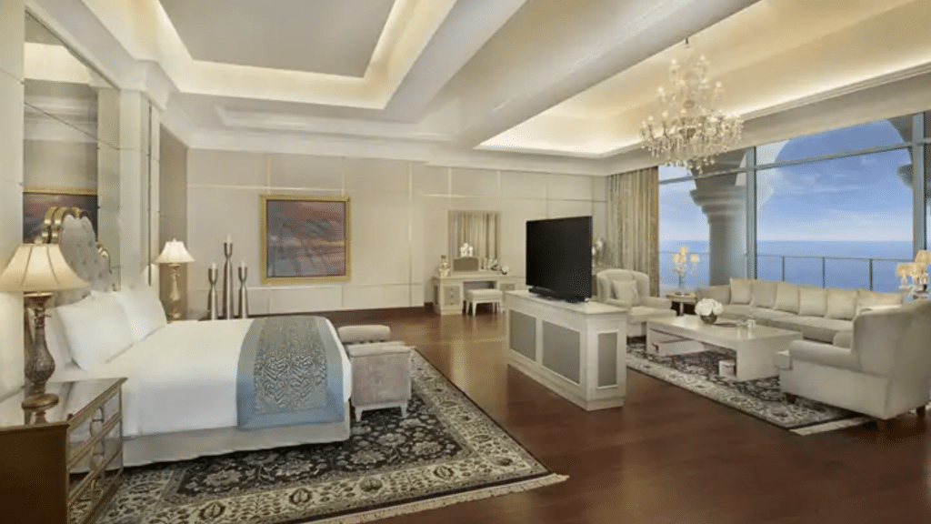 Waldorf Astoria Dubai Palm Jumeirah- chambre